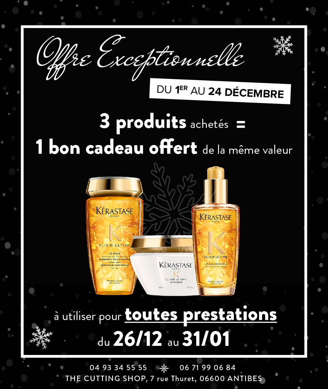 Very special offer for Christmas – The Cutting Shop Antibes