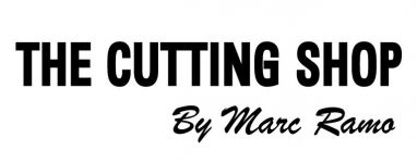 Logo The Cutting Shop by Marc Ramo - V noir-100